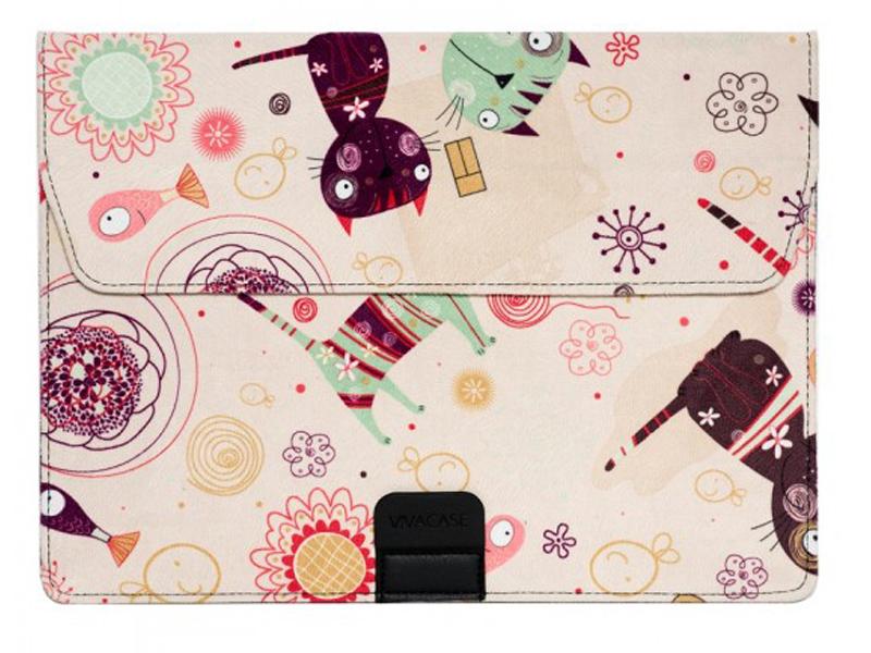 Аксессуар Чехол-папка 12-13.3-inch Vivacase для MacBook Air Kitten Beige VCN-FCT15-be