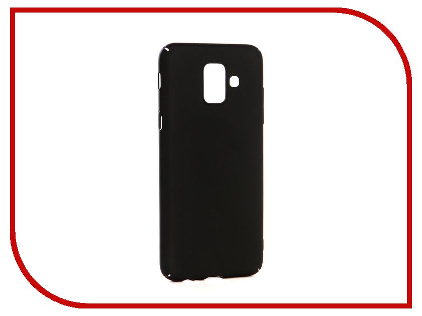 Аксессуар Чехол-накладка для Samsung Galaxy A6 2018 Gecko Hard Plastic Black PL-K-SAMA6-BL чехол на сиденье autoprofi gob 1105 bl romb m