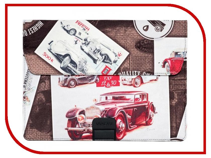 Аксессуар Чехол-папка 15-16-inch Vivacase Cars для MacBook Air Brown VCN-FCR160-br 10 cars lot 100