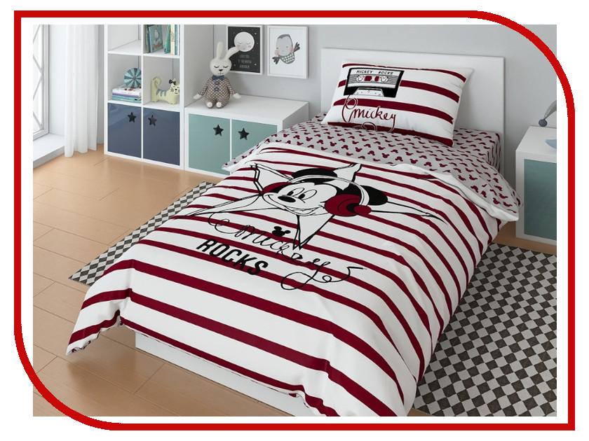 Постельное белье Disney Mickey Star Комплект 1.5 спальный 720609 постельное белье disney rock star комплект 1 5 спальный 720608