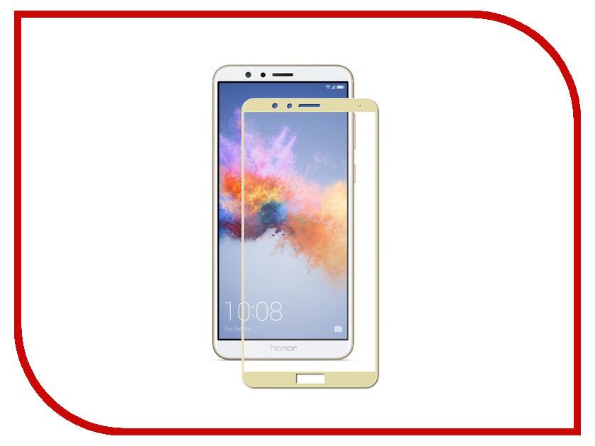Аксессуар Защитное стекло для Huawei Honor 7X Pero 2.5D Gold PRMG-H7XG аксессуар защитное стекло для huawei honor 7x pero prsg hr7x