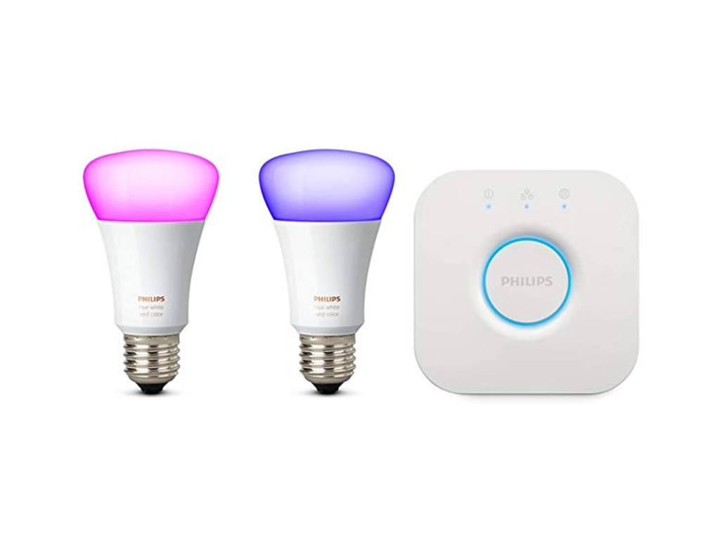 Лампочка Philips Hue White and Color Ambiance Starter E27 (2 шт) + блок управления лампочка philips hue white ambiance gu10 2шт