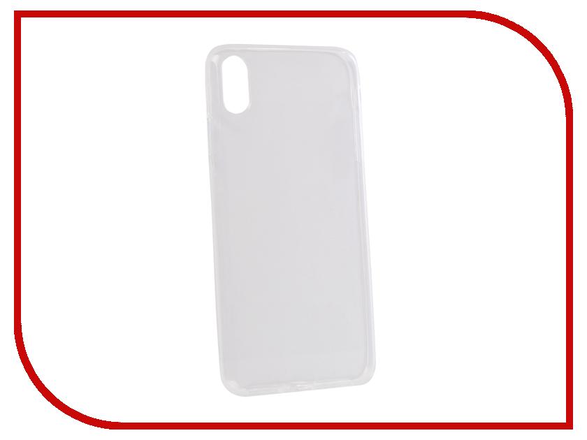 Аксессуар Чехол для APPLE iPhone XS Max Onext Silicone Transparent 70671 аксессуар чехол для nokia 6 2018 onext silicone transparent 70575