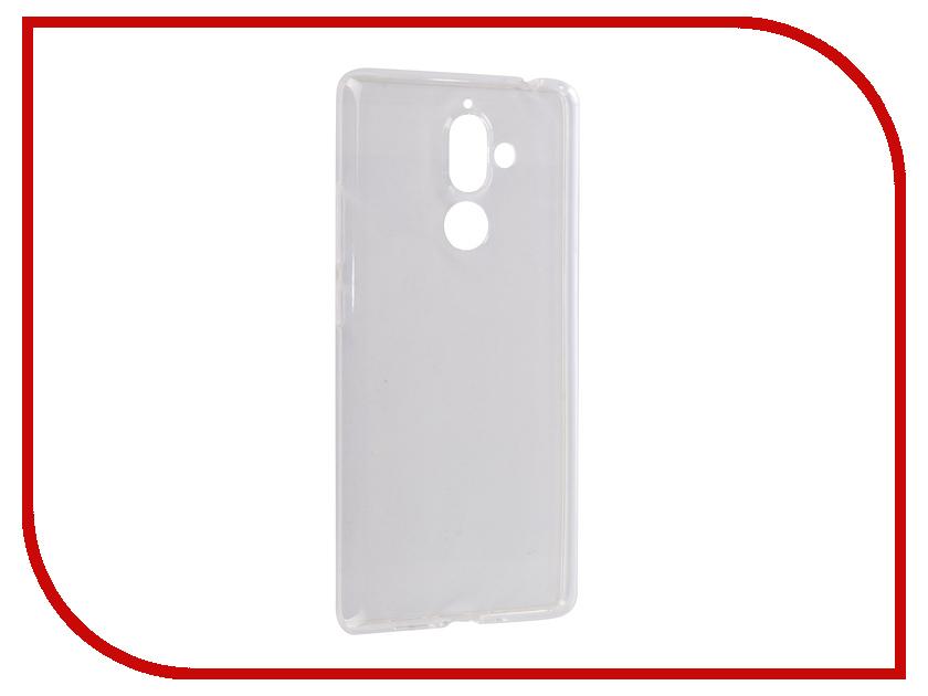 Аксессуар Чехол для Nokia 7 Plus Onext Silicone Transparent 70576 аксессуар чехол для nokia 7 plus df nkflip 05