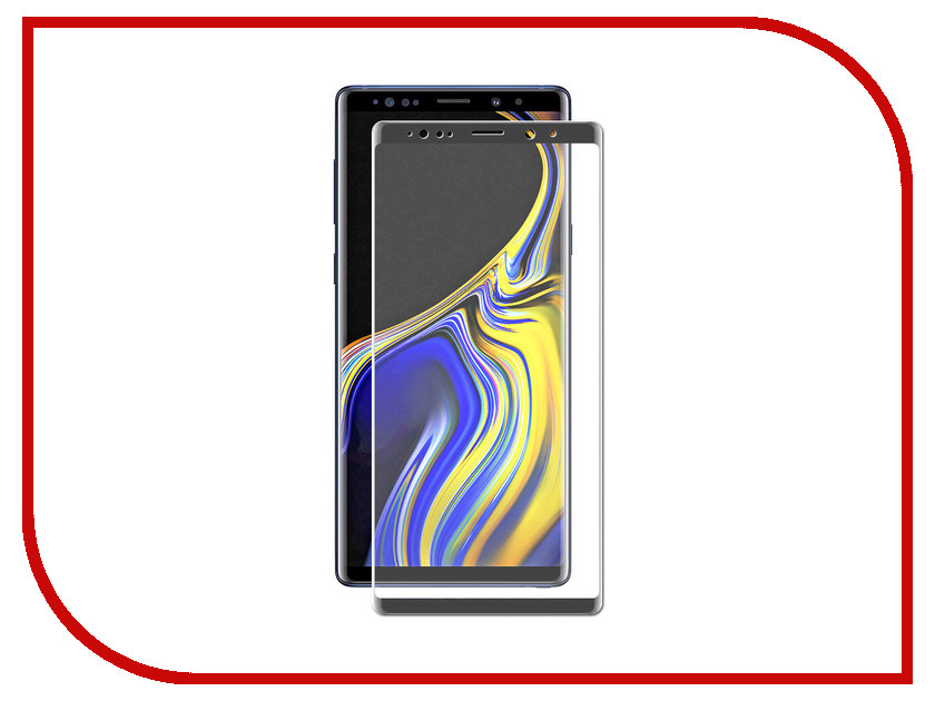 Аксессуар Стекло защитное Samsung Galaxy Note 9 LuxCase 3D Black Frame 77974 10pcs gold 3d rudder metal flower pearl music note mixed rhinestones cross nail art decoration jewelry nails supplies y180 187