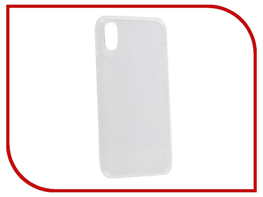 Аксессуар Чехол для APPLE iPhone X CaseGuru Liquid 1mm 100461 аксессуар чехол caseguru soft touch для apple iphone x 101604