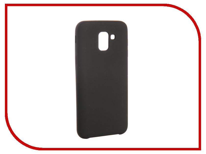 Аксессуар Чехол для Samsung Galaxy J6 CaseGuru Soft-Touch 0.5mm Black 103337 цена 2017