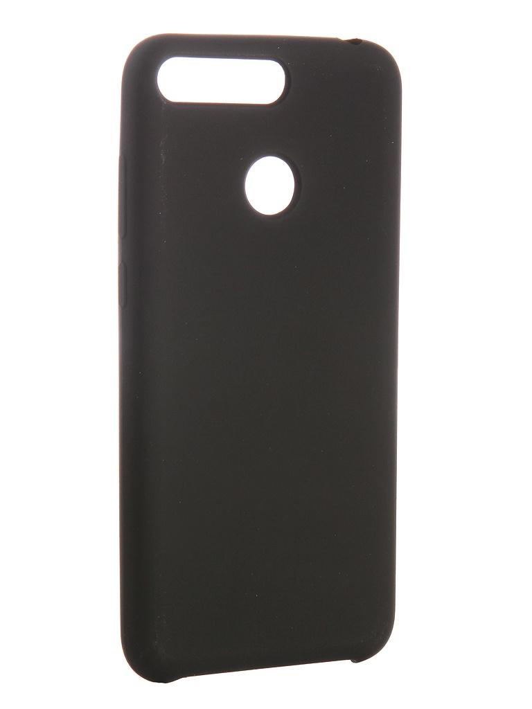 Чехол CaseGuru для Huawei Y6 2018 Soft-Touch 0.5mm Black 103354