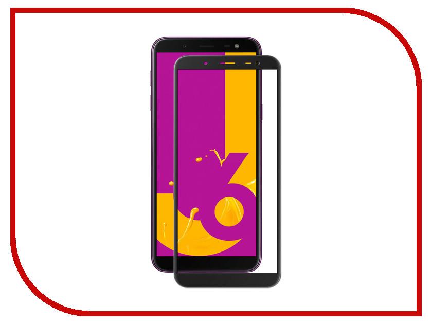 Аксессуар Защитное стекло для Samsung Galaxy J6 2018 CaseGuru Glue Full Screen 0.33mm Black 103286 for lenovo zuk z2 lcd screen display with touch screen digitizer panel glass assembly black white replacement parts free shipping