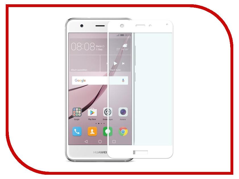 Аксессуар Защитное стекло для Huawei Nova CaseGuru Full Screen 0.33mm White 91110 защитное стекло caseguru зеркальное front