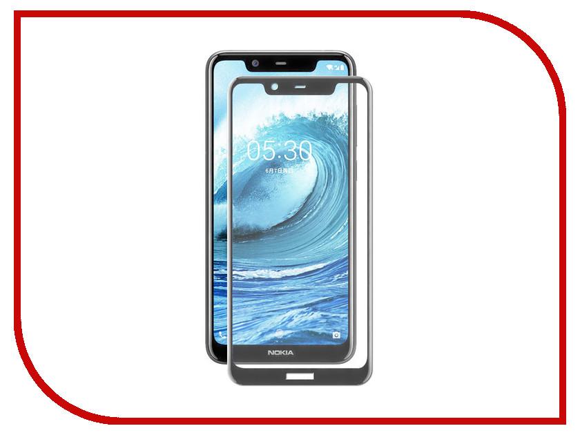 Аксессуар Защитное стекло для Nokia 5.1 Plus Media Gadget 2.5D Full Cover Glass Black Frame MGFCN5D1PBK