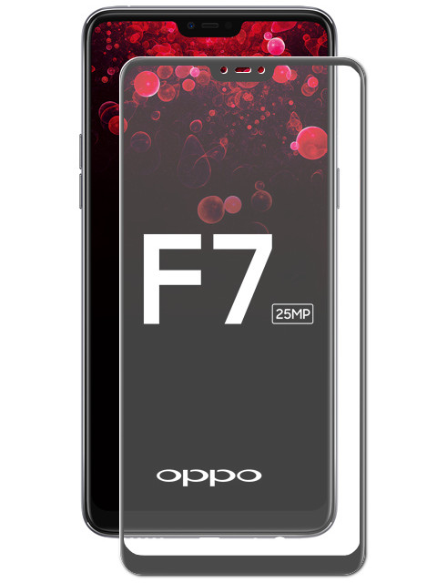 Аксессуар Защитное стекло Media Gadget для OPPO F7 2018 2.5D Full Cover Glass Black Frame MGFCOF718BK