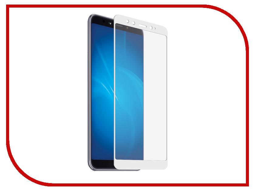 Аксессуар Защитное стекло для Xiaomi Mi A2 Media Gadget 2.5D Full Cover Glass White Frame MGFCXMA2FGWT