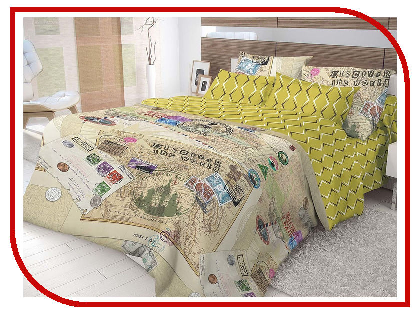 Постельное белье Волшебная ночь Лофт Travel Комплект Евро Наволочки 50x70 Ранфорс 716293 цены онлайн