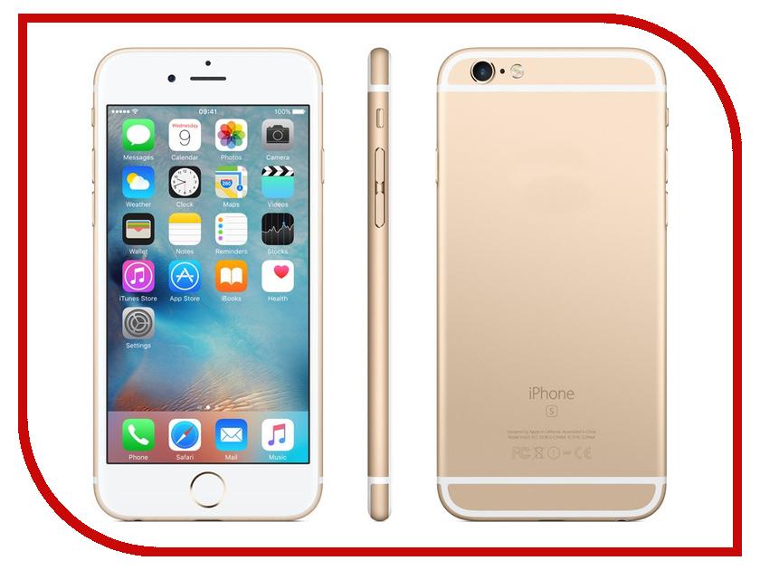 Сотовый телефон Apple iPhone 6S 128GB Gold восстановленный сотовый телефон apple iphone 6s plus 128gb silver mkue2ru a
