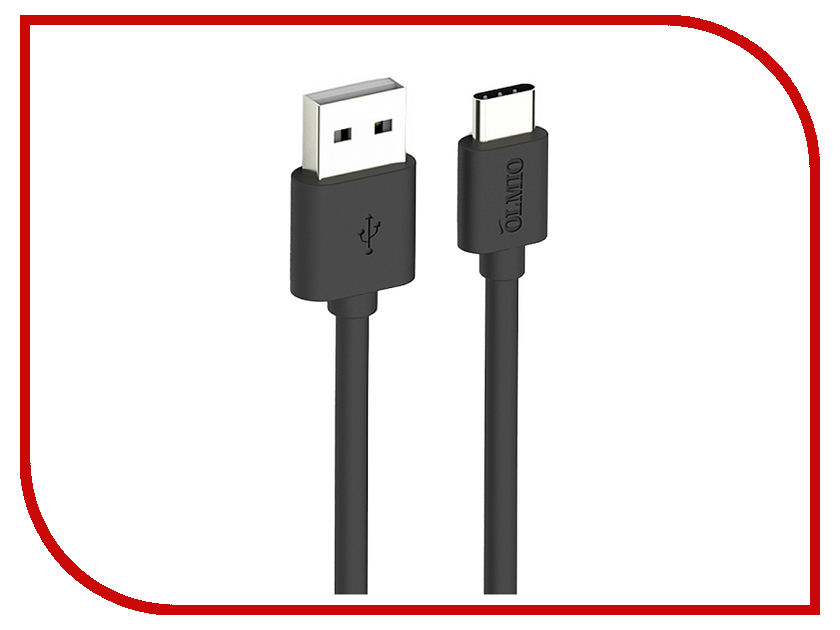 Аксессуар Olmio USB - USB Type-C 1m Black ПР038773 аксессуар df usb type c 1m czebra 02 blue black page 6