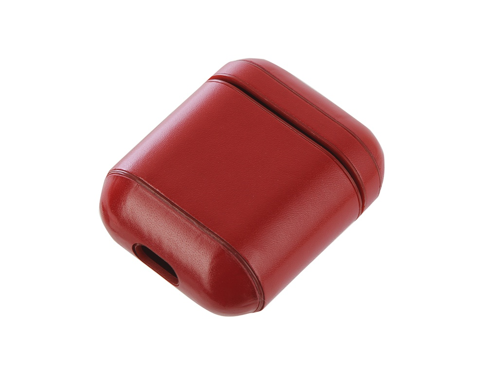 Чехол Gurdini Premium Leather для Airpods Red 906879