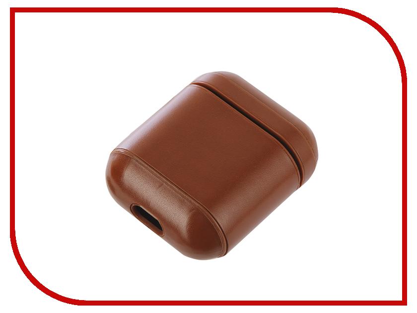 Аксессуар Чехол Gurdini Premium Leather для Airpods Light Brown 906878 чехол для ipad mini gurdini origami brown