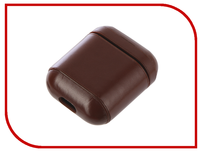 Аксессуар Чехол Gurdini Premium Leather для Airpods Dark Brown 906877 fashion pu leather band round dial quartz wrist watch red dark brown 1 x sr626