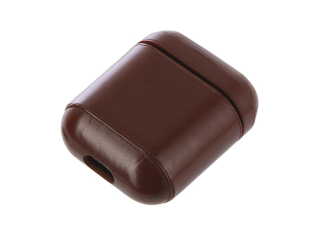 Аксессуар Чехол Gurdini Premium Leather для Airpods Dark Brown 906877
