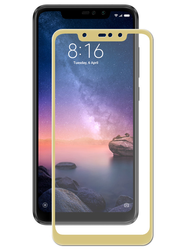 Аксессуар Защитное стекло Zibelino для Xiaomi Redmi Note 6 2018 TG Full Screen Gold ZTG-FS-XMI-NOT6-GLD аксессуар защитное стекло samsung galaxy a3 2017 a320f zibelino tg full screen 0 33mm 2 5d gold ztg fs sam a320f gld