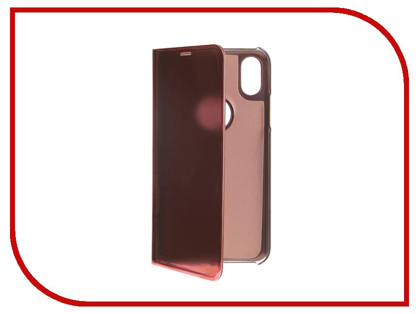 Аксессуар Чехол Zibelino Clear View для APPLE iPhone XS Gold Pink ZCV-APL-XS-GPNK аксессуар чехол для samsung a8 2018 a530 zibelino clear view blue zcv sam a530 blu