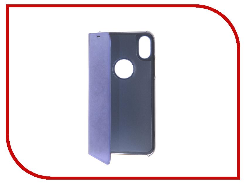Аксессуар Чехол Zibelino Clear View для APPLE iPhone XS Blue ZCV-APL-XS-BLU стоимость
