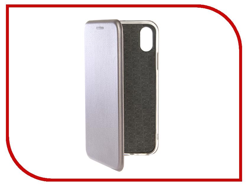 Аксессуар Чехол Zibelino для APPLE iPhone XS Book Grey ZB-APL-XS-GRY