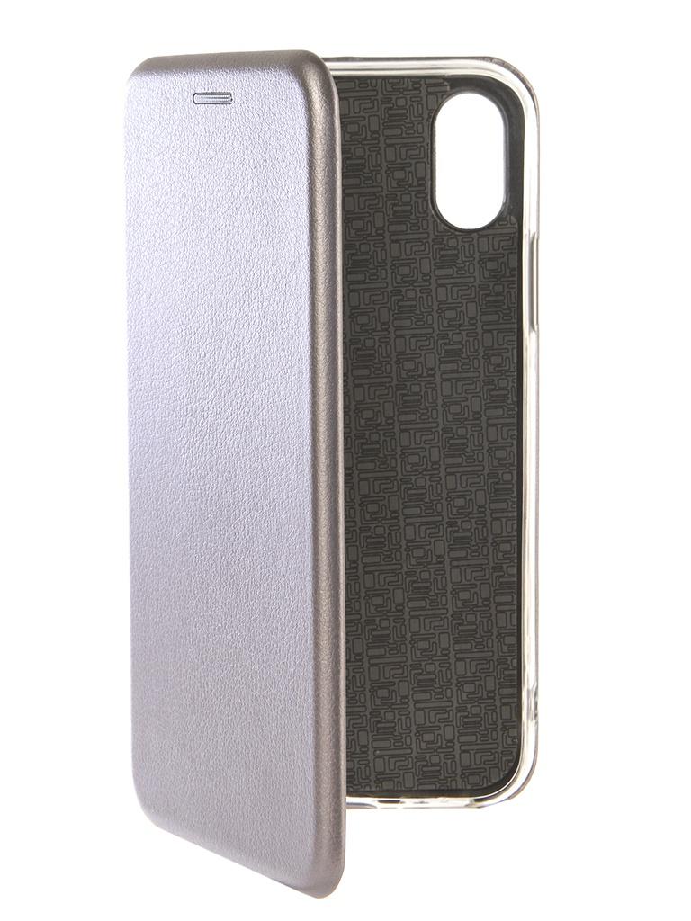 Аксессуар Чехол Zibelino для APPLE iPhone XS Book Grey ZB-APL-XS-GRY mio link grey large 56p gry l
