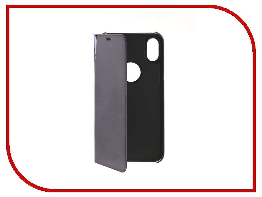 Аксессуар Чехол для APPLE iPhone XS Zibelino Clear View Black ZCV-APL-XS-BLK аксессуар чехол для samsung a8 2018 a530 zibelino clear view blue zcv sam a530 blu