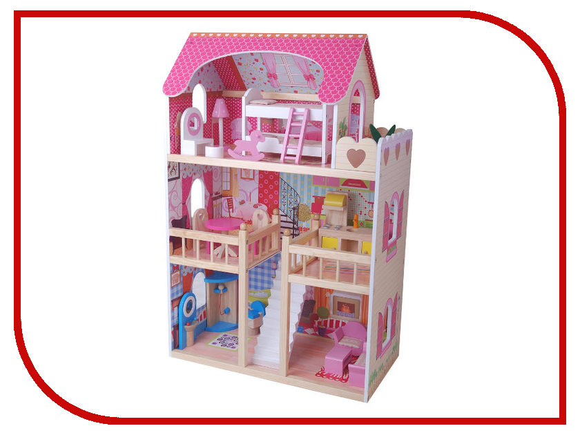 Кукольный домик Edufun Домик EF4109 с мебелью plan toys кукольный домик шале с мебелью 7602