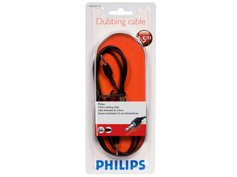 Аксессуар Philips 3.5mm M - 1.5m Black SWA2529W/10