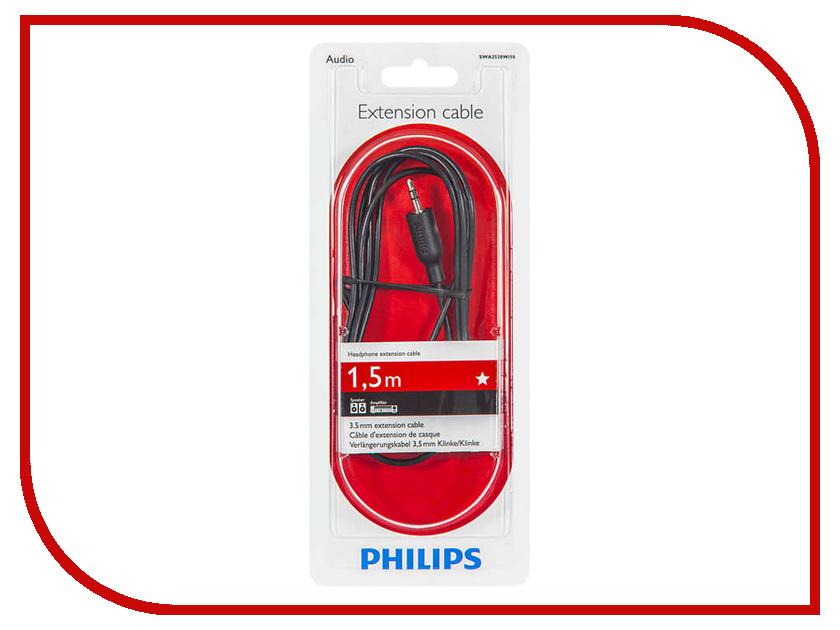 Аксессуар Philips 3.5mm M - 3.5mm F 1.5m Black SWA2528W/10 van hoy