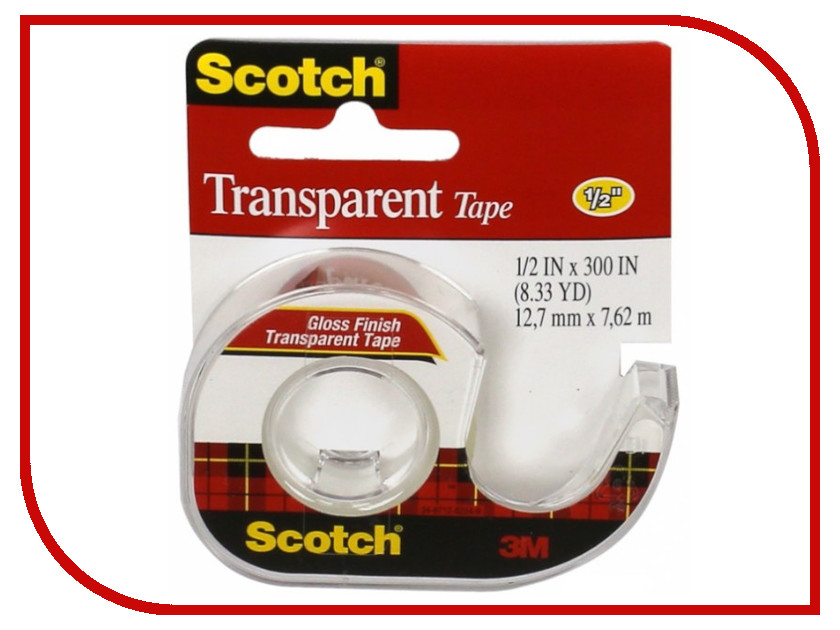 3M Scotch 12.7mm x 7.62m Transparent 144SS-ENG 225939 my first eng adventure starter tb