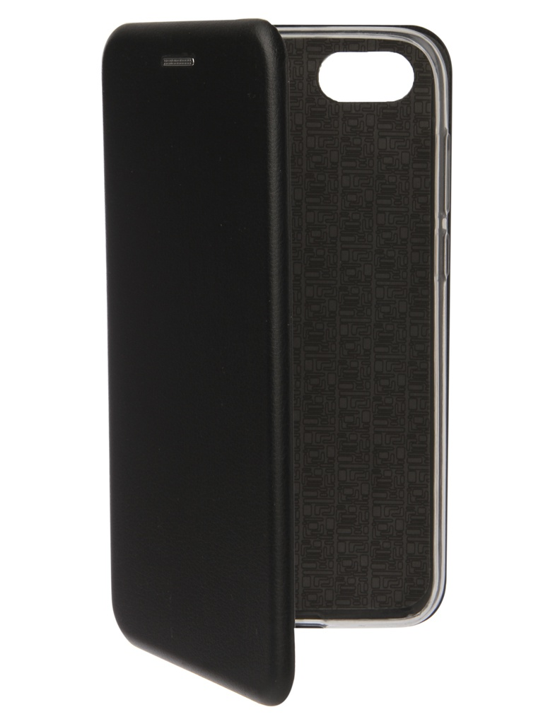 Аксессуар Чехол Innovation для Huawei 7A/Y5 Prime Book Silicone Magnetic Black 12557