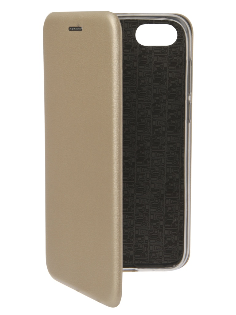 Аксессуар Чехол Innovation для Huawei 7A/Y5 Prime Book Silicone Magnetic Gold 12559 аксессуар чехол innovation для huawei 7a y5 prime book silicone magnetic red 12561