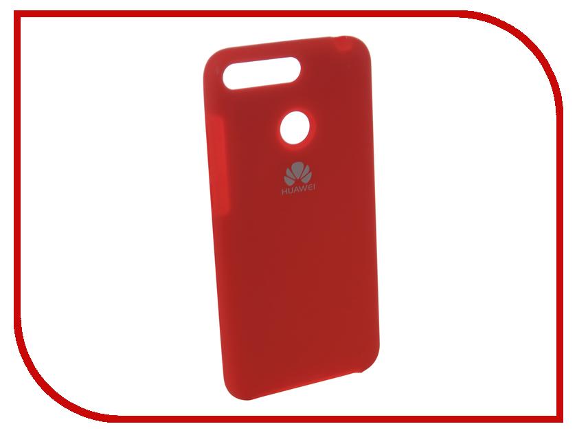 Аксессуар Чехол для Huawei 7A Pro/Y6 Prime Innovation Silicone Red 12606