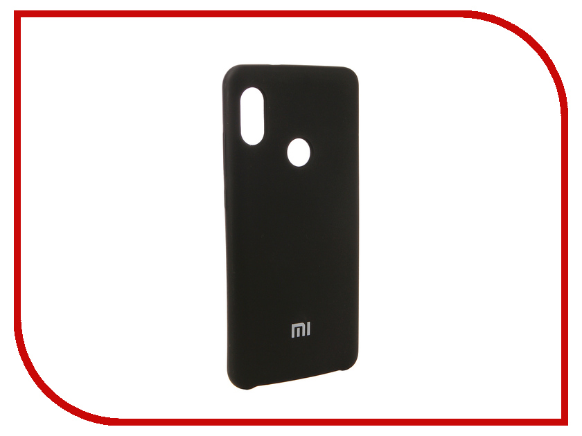 Аксессуар Чехол для Xiaomi Redmi Note 5 Pro Innovation Silicone Black 12582 аксессуар чехол книга для xiaomi redmi 5 plus redmi note 5 innovation book silicone rose gold 11447