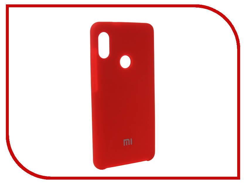Аксессуар Чехол для Xiaomi Redmi Note 5 Pro Innovation Silicone Red 12584 аксессуар чехол книга для xiaomi redmi 5 plus redmi note 5 innovation book silicone rose gold 11447
