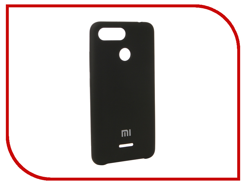 Аксессуар Чехол для Xiaomi Redmi 6 Innovation Silicone Black 12572 аксессуар противоударное стекло для xiaomi redmi 5 innovation 2d black 12117