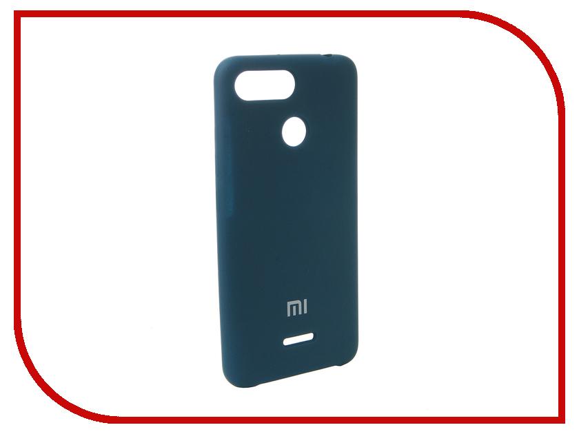 Аксессуар Чехол для Xiaomi Redmi 6 Innovation Silicone Blue 12573 платье befree befree be031ewbxht2