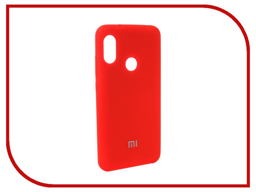 Аксессуар Чехол для Xiaomi Redmi 6 Pro Innovation Silicone Red 12568 110db loud security alarm siren horn speaker buzzer black red dc 6 16v