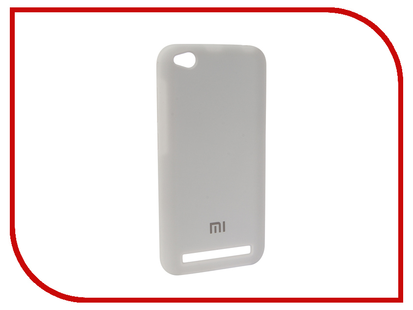 Аксессуар Чехол для Xiaomi Redmi 5A Innovation Silicone White 12596 футболка ea7 ea7 ea002ewbodx8