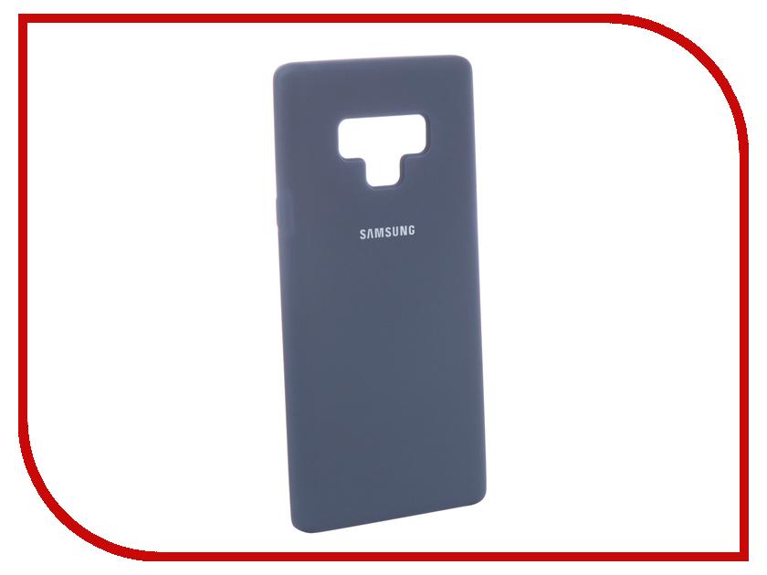 Аксессуар Чехол для Samsung Galaxy Note 9 Innovation Silicone Blue 12645 blue flower design кожа pu откидной крышки кошелек карты держатель чехол для samsung j5prime