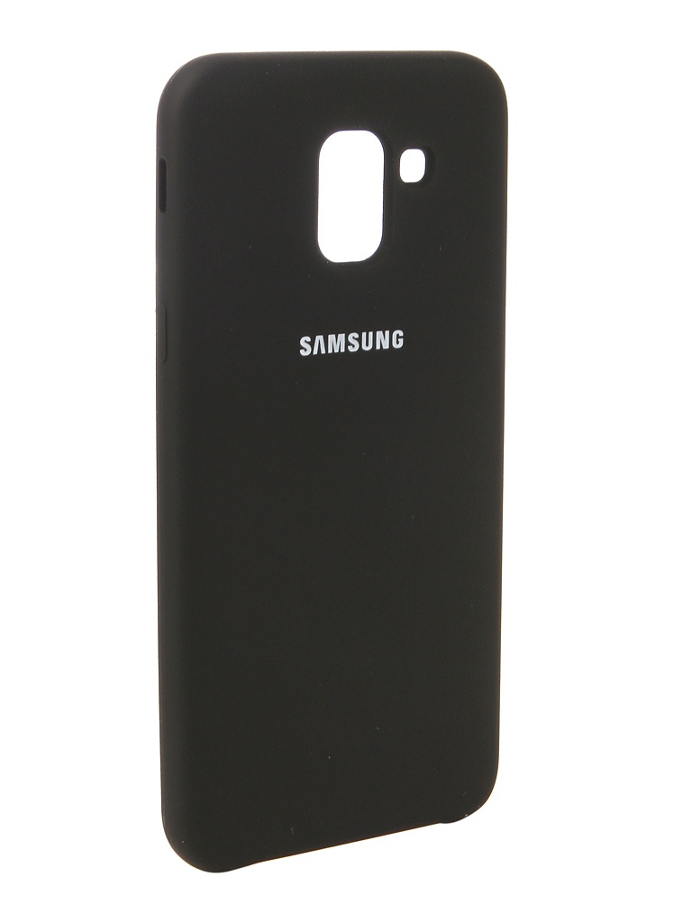 Аксессуар Чехол Innovation для Samsung Galaxy J6 2018 Silicone Black 12639 аксессуар чехол snoogy для samsung i9600 galaxy s5 creative silicone 0 3mm black
