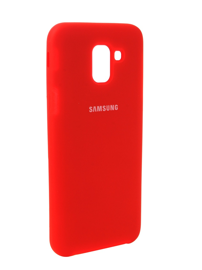 Аксессуар Чехол Innovation для Samsung Galaxy J6 2018 Silicone Red 12641