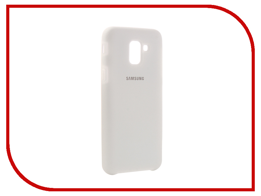 Аксессуар Чехол для Samsung Galaxy J6 2018 Innovation Silicone White 12638 цена и фото