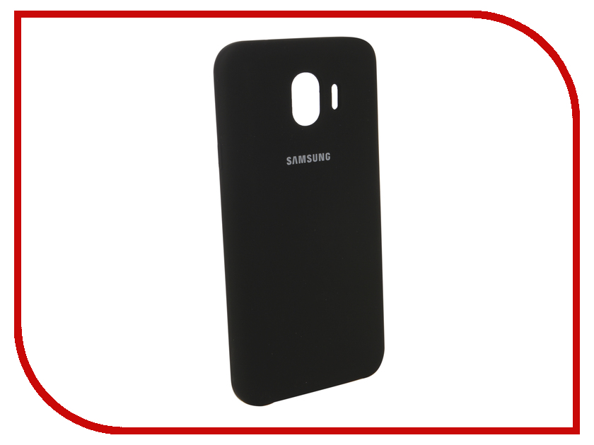Аксессуар Чехол для Samsung Galaxy J4 2018 Innovation Silicone Black 12634 аксессуар чехол samsung j3 2017 j330f zibelino clear view black zcv sam j330 blk