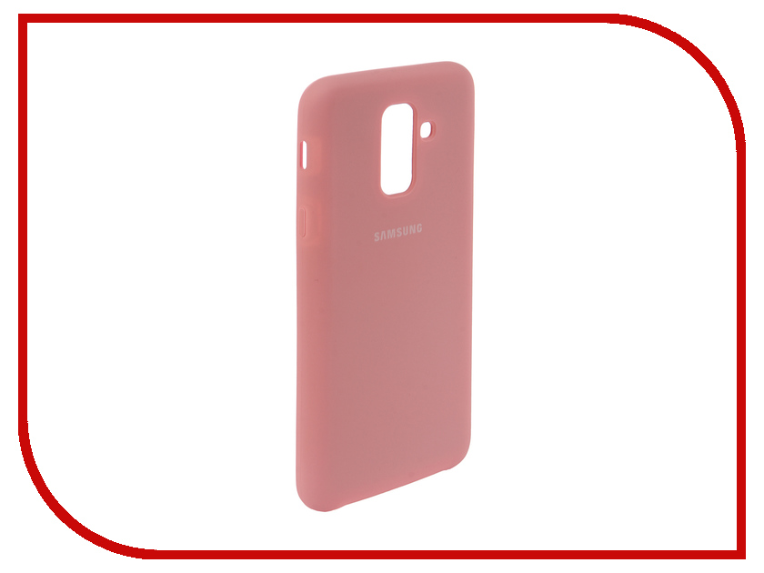 Аксессуар Чехол для Samsung Galaxy A6 Plus 2018 Innovation Silicone Pink 12632 аксессуар чехол книга для samsung galaxy a6 plus 2018 innovation book silicone gold 12450