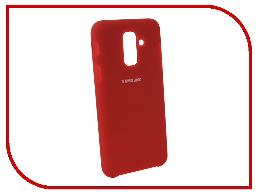 Аксессуар Чехол для Samsung Galaxy A6 Plus 2018 Innovation Silicone Red 12631 аксессуар чехол для samsung galaxy s9 plus innovation silicone red 11915